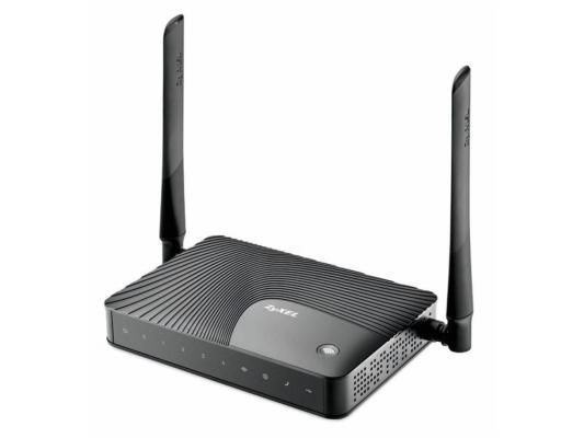 Беспроводной маршрутизатор Zyxel Keenetic III 802.11bgn 300Mbps 2.4 ГГц 4xLAN USB FXS черный