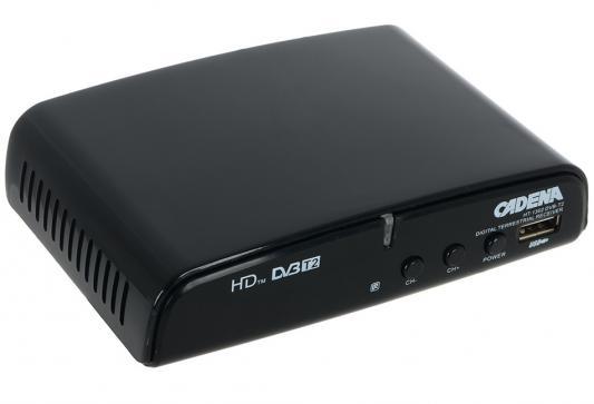 Тюнер цифровой DVB-T2 Cadena HT-1302 черный