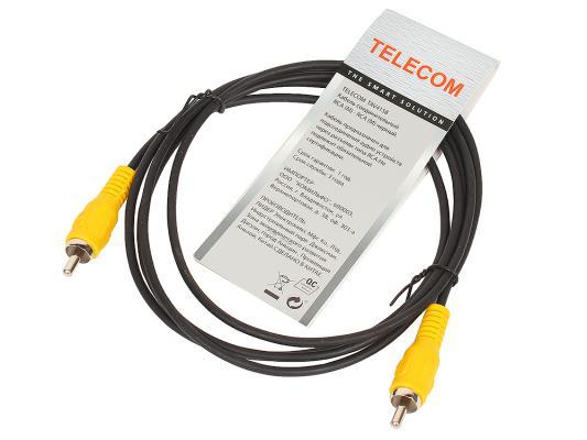 Кабель соединительный 1.5м VCOM Telecom RCA(M)-RCA(M) черный TAV4158-1.5M