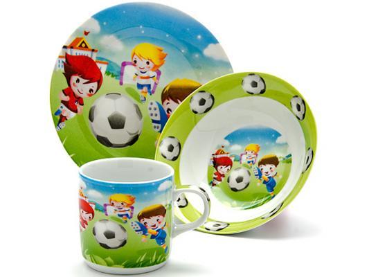 Набор посуды Loraine Футбол LR-24022 3 предмета детский