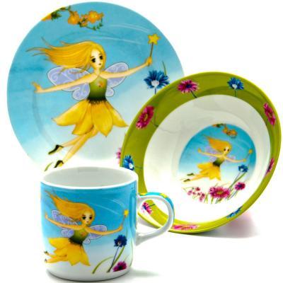 Набор посуды Loraine Фея LR-24026 3 предмета детский