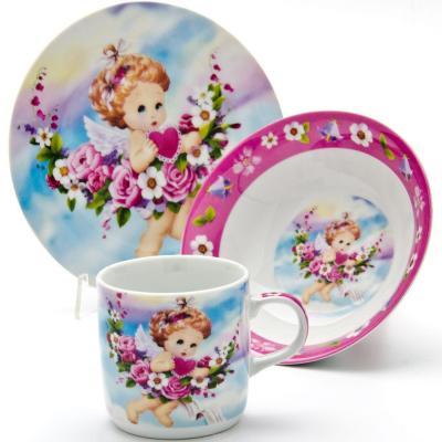 Набор посуды Loraine Ангел LR-24027 3 предмета детский loraine ангел lr 24027