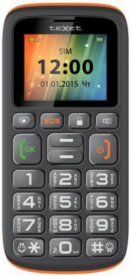 """Мобильный телефон Texet TM-B115 черный оранжевый 1.7"""""""