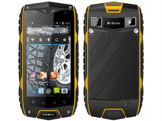 Смартфон TeXet X-driver Quad TM-4082R Dual Sim Black-Yellow черно-желтый