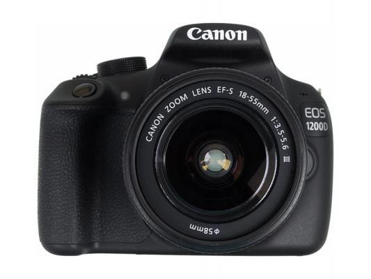 Зеркальная фотокамера Canon EOS 1200D 18-55мм f/3.5-5.6 DC черный