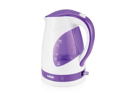 Чайник BBK EK1700P 2200 Вт белый фиолетовый 1.7 л пластик bbk ek1700p