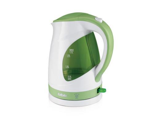 Чайник BBK EK1700P 2200 Вт белый зелёный 1.7 л пластик bbk ek1700p