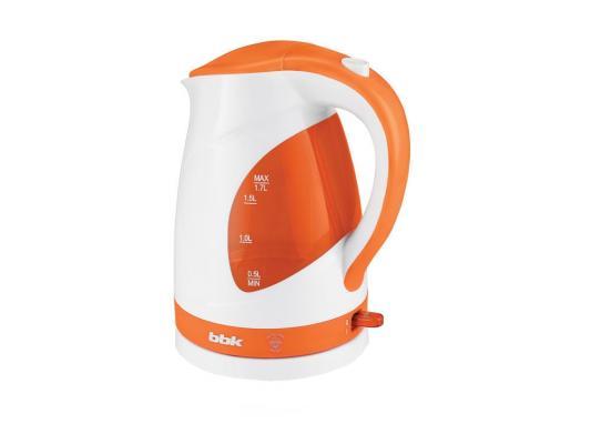 лучшая цена Чайник BBK EK1700P 2200 Вт белый оранжевый 1.7 л пластик