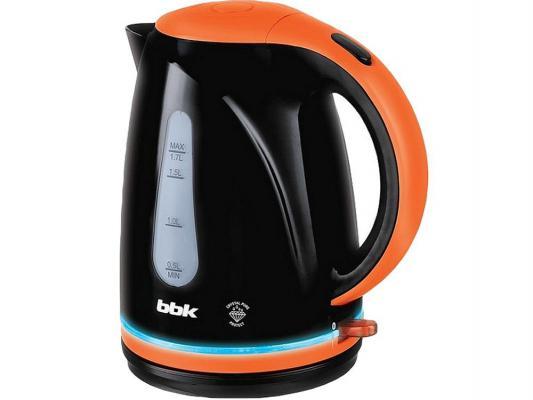 Чайник BBK EK1701P 2200 Вт оранжевый чёрный 1.7 л пластик