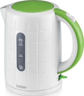 Чайник BBK Чайник 2200 Вт 1.7 л пластик белый зелёный