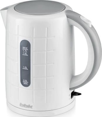 Чайник BBK EK1703P 2200 Вт белый металлик 1.7 л пластик