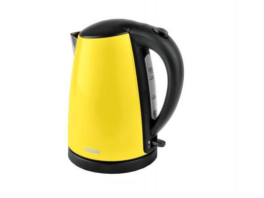 Чайник BBK EK1705S 2200 Вт жёлтый чёрный 1.7 л металл цена и фото