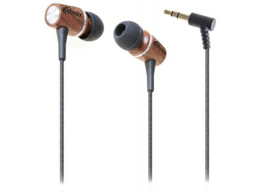 Наушники Ritmix RH-160 черно-коричневый ritmix rh 160 wooden