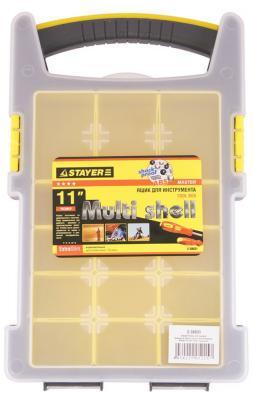 Ящик для инструмента Stayer Multyshel 11 пластиковый 2-38031 ящик stayer 2 38032