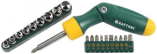 Набор отверточный Kraftool Bit-Lock 21шт 26151-H21 набор отверточный kraftool 26151 h21 21 предмет