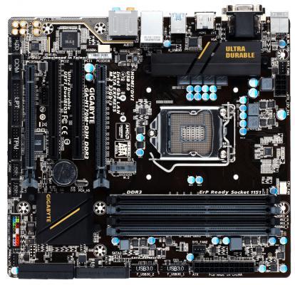 Мат. плата для ПК GigaByte GA-H170M-D3H DDR3 Socket 1151 H170 4xDDR3 2xPCI-E 16x 2xPCI 6xSATAIII mATX Retail
