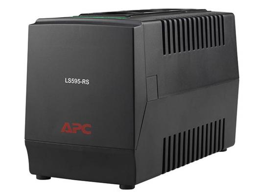Стабилизатор напряжения APC Line-R LS595-RS черный 3 розетки 1 м стабилизатор напряжения apc line r ls1500 rs 3 розетки 1 м черный