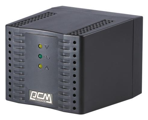 Стабилизатор напряжения Powercom TCA-3000 черный 4 розетки