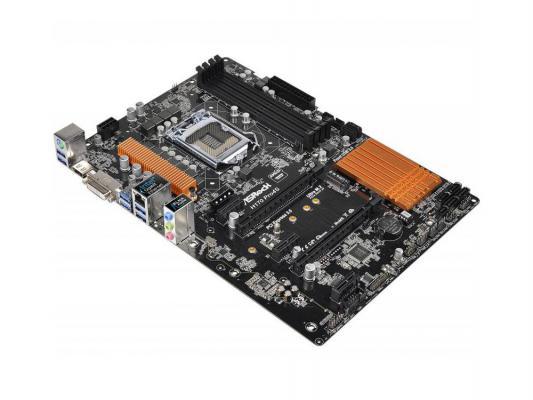 Мат. плата для ПК ASRock H170 Pro4S Socket 1151 H170 4xDDR4 2xPCI-E 16x 3xPCI-E 1x 6xSATAIII ATX Retail