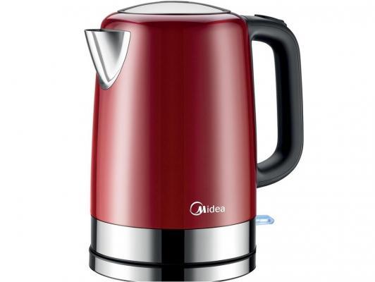 Чайник Midea MK-M317C2A-RD 2200 Вт 1.7 л нержавеющая сталь красный midea mk m317c2a ss