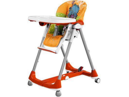 Стульчик для кормления Peg-Perego Prima Pappa Diner (hippo arancio) - Peg-PeregoСтульчики для кормления<br>Бренд: Peg-Perego, Тип: классический, Цвет: оранжевый<br>