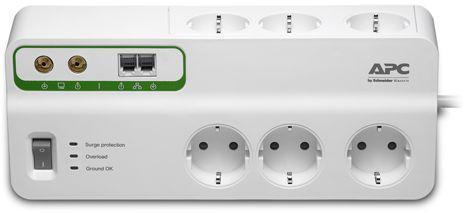 Сетевой фильтр APC PMH63VT-RS белый 6 розеток 2.4 м сетевой фильтр apc pm8 rs белый 8 розеток 2 м