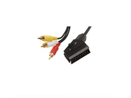 Кабель соединительный 1.0м Rexant SCART-3xRCA 17-0201-7 кабель belsis 3xrca 3xrca 1м bw1591