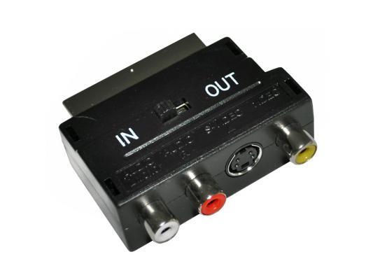 Переходник Rexant SCART-3xRCA + SVHS с переключателем 17-1051