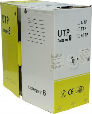 Кабель Telecom UTP 4 пары категория 6 CU 305м UTP4-TC1000C6S23-CU-IS кабель сетевой telecom solid cu 0 42mm cat5e gray