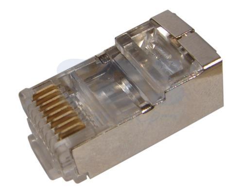 Коннектор Rexant RJ-45 5e категории 8P8C 100шт 05-1023 экранированный коннектор rj 12 6p4c 100шт proconnect 05 1012 3