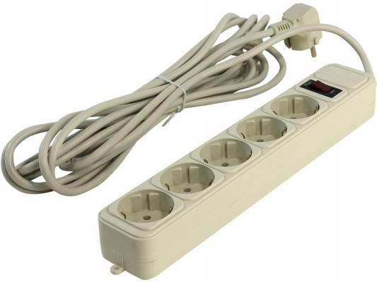 Сетевой фильтр 5bites SP5-W-50 белый 5 розеток 5 м