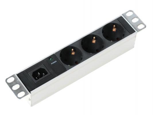 Блок розеток ЦМО R-10-3S-I-220 черный белый 3 розетки без шнура