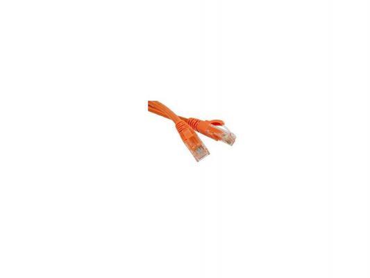 Патч-корд UTP 5E категории 1.5м Hyperline PC-LPM-UTP-RJ45-RJ45-C5e-1,5M-LSZH-OR оранжевый