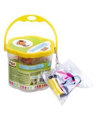 Тесто для лепки Color Puppy 18 цветов, 315г, формочки, инструменты в желтом кейсе 63780
