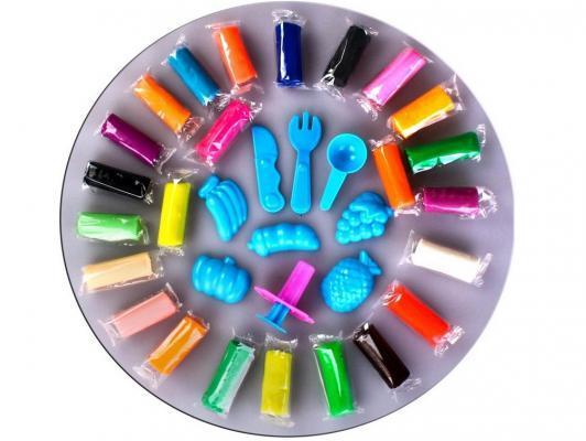 Тесто для лепки Color Puppy 24 цвета, 672г, формочки, инструменты в желтом или синем кейсе 63782