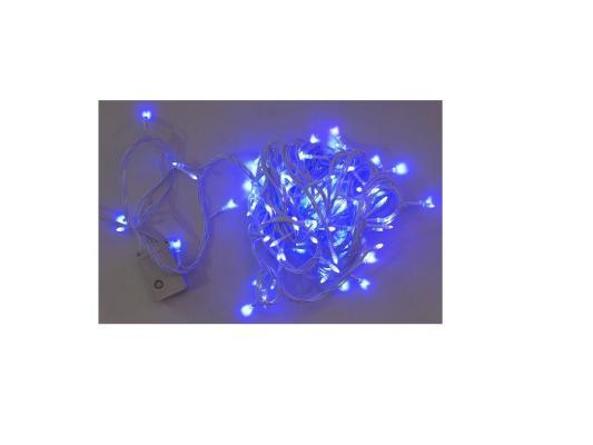 Гирлянда эл. 100 LED, синее свечение, белый провод, 8 реж. Новогодняя сказка 971607