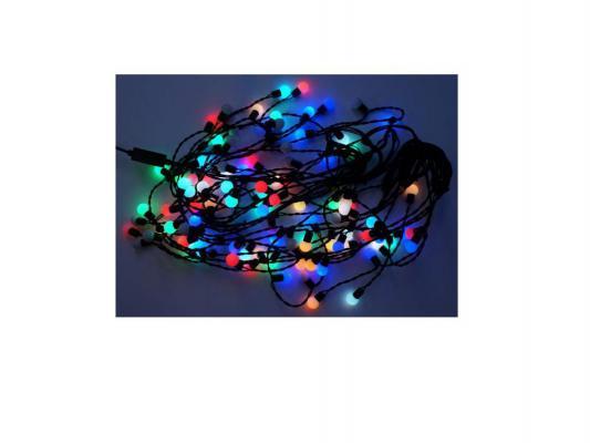 Гирлянда-портьера Шарики 108 LED, цветное свечение, черный провод Новогодняя сказка 971211