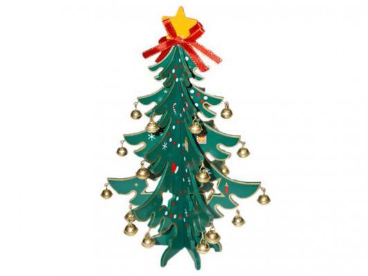 Ель Новогодняя сказка 97963 с украшениями зеленый 23 см