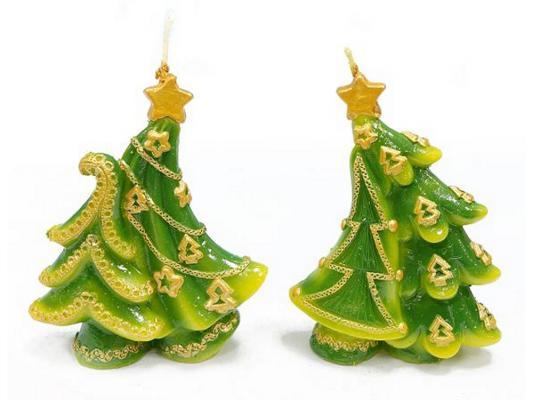 Свеча Новогодняя сказка Танцующие елки 10.3 см 1 шт 972051 от 123.ru