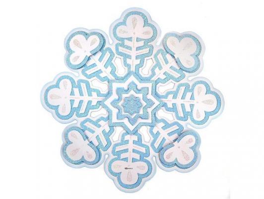 Панно бумажное Новогодняя сказка Снежинка 27 см 1 шт 972234 от 123.ru