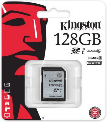 Карта памяти SDXC 128GB Class 10 Kingston SD10VG2/128GB карта памяти kingston 128gb sdhc class 10 sd10vg2 128gb sd10vg2 128gb
