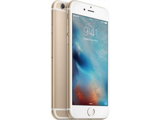 """Смартфон Apple iPhone 6S золотистый 4.7"""" 128 Гб LTE Wi-Fi GPS MKQV2RU/A"""