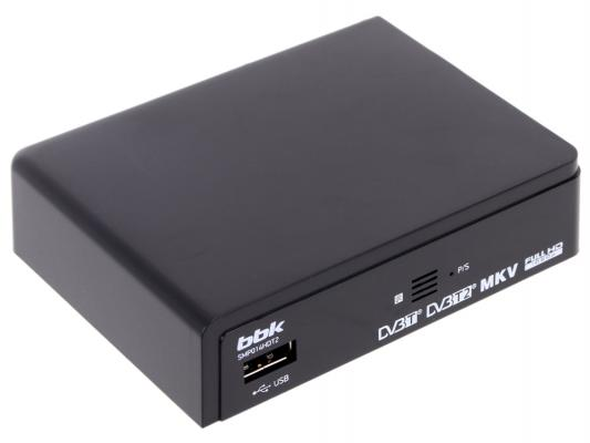 Тюнер цифровой DVB-T2 BBK SMP014HDT2 черный