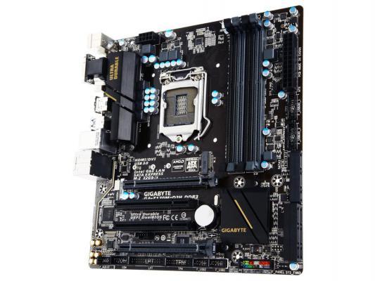 Мат. плата для ПК GigaByte GA-Z170M-D3H DDR3 Socket 1151 Z170 4xDDR3 2xPCI-E 16x 2xPCI 6xSATAIII mATX Retail