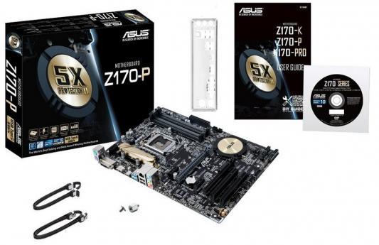 Материнская плата для ПК ASUS Z170-P Socket 1151 Z170 4xDDR4 2xPCI-E 16x 2xPCI 2xPCI-E 1x 4xSATAIII ATX Retail