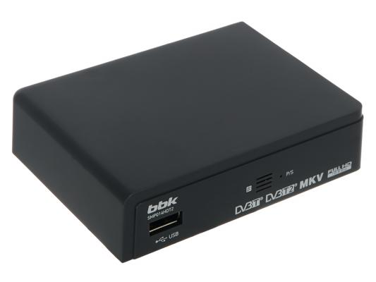 Тюнер цифровой DVB-T2 BBK SMP014HDT2 серый