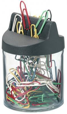 Скрепочница Durable магнитная 125 цветных скрепок 124000