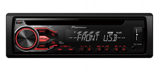 Автомагнитола Pioneer DEH-1800UB USB MP3 CD FM RDS 1DIN 4x50Вт черный автомагнитола kenwood kdc 151ry usb mp3 cd fm 1din 4х50вт черный