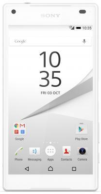 "все цены на  Смартфон SONY Xperia Z5 Compact белый 4.6"" 32 Гб NFC LTE GPS Wi-Fi E5823  онлайн"