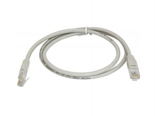 Патч-корд UTP 5E категории 0.3м Hyperline PC-LPM-UTP-RJ45-RJ45-C5e-0.3M-LSZH-GY серый